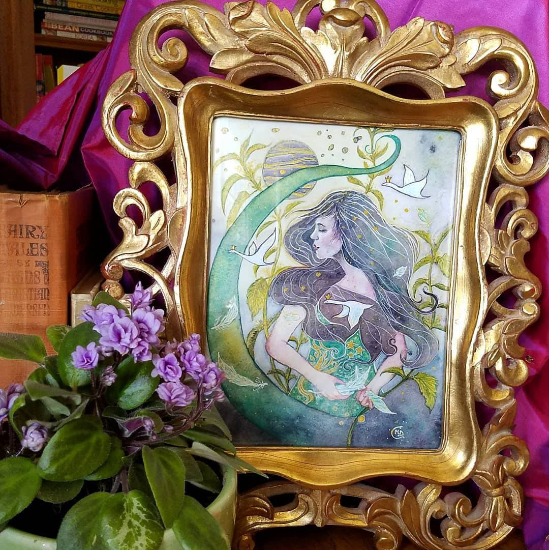 Elise, The Wild Swans, Framed