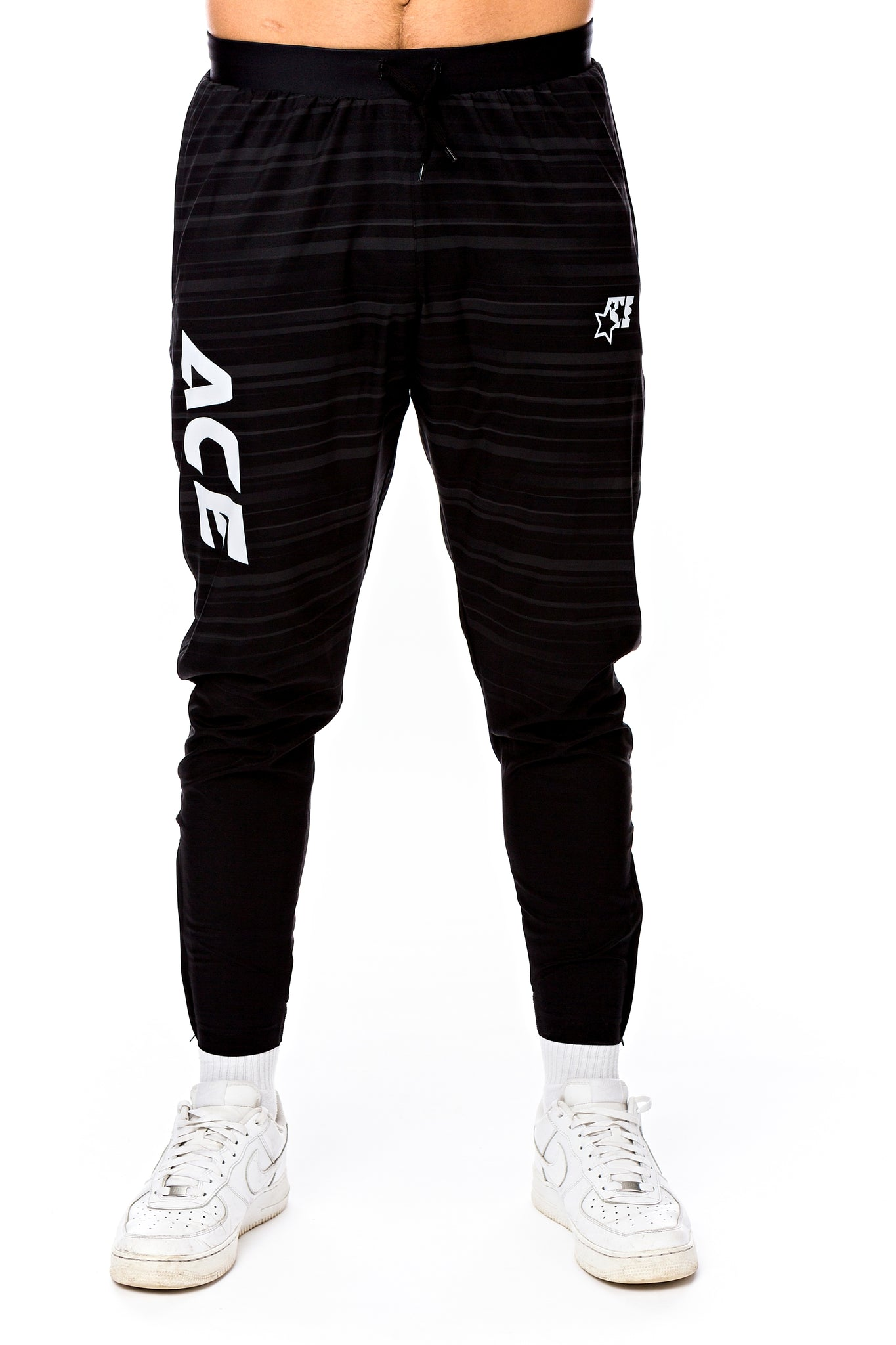 ULTRA LIGHT TRAINING SUIT - ACE BLACK WHITE - ACEPERFORMANCE