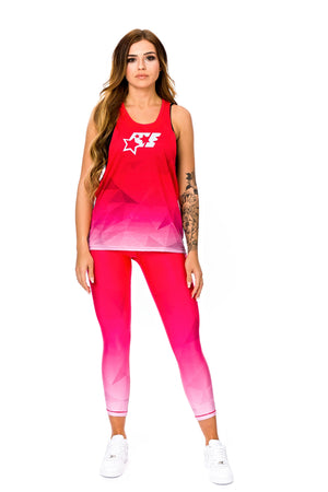 WOMENS LOOSE TANK TOP - FLAMINGO - ACEPERFORMANCE