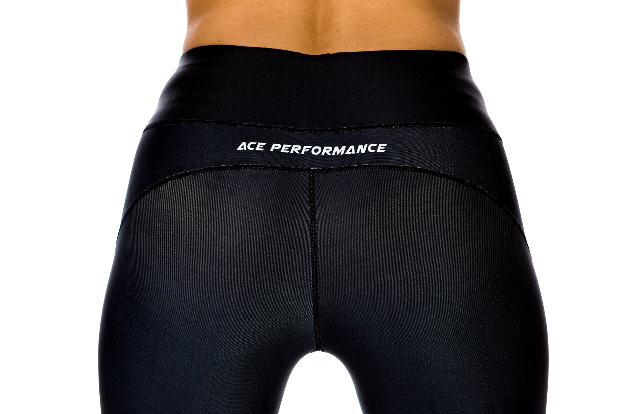 WOMENS LEGGINGS - ACE BLACK GREY - ACEPERFORMANCE