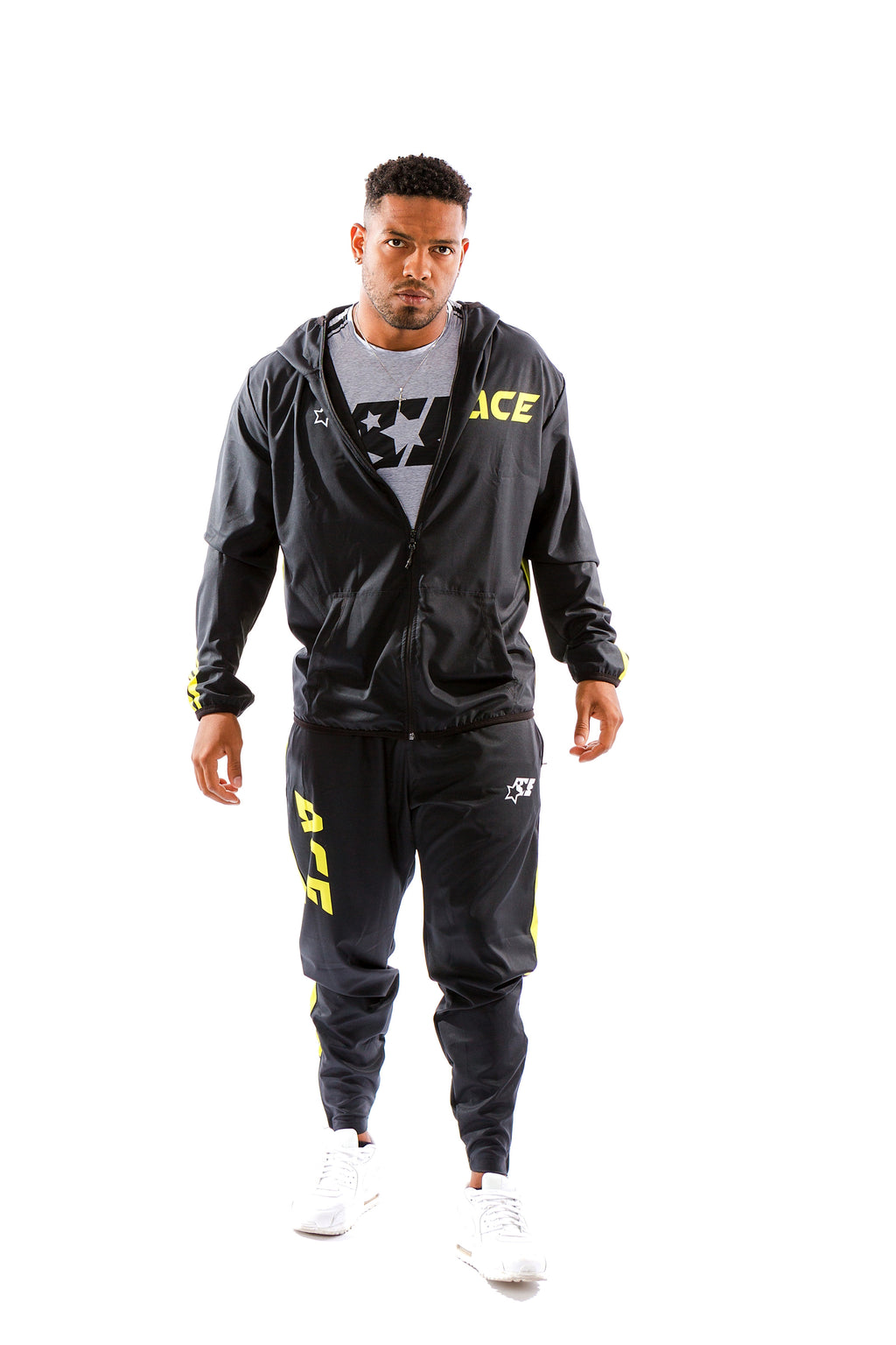 ULTRA LIGHT TRAINING SUIT - ACE BLACK GREEN - ACEPERFORMANCE