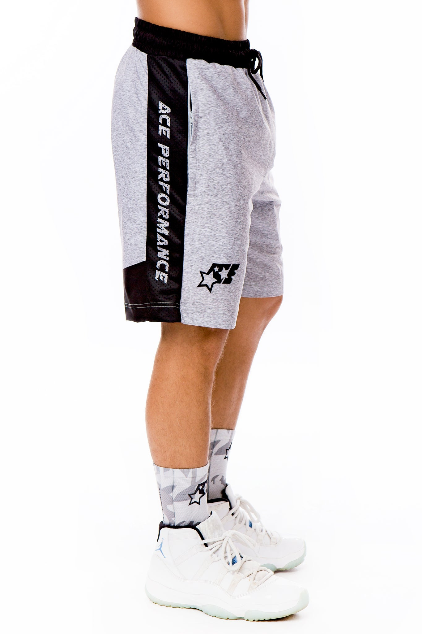 SIDELINE SHORTS - ACE GREY - ACEPERFORMANCE