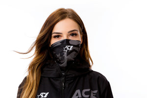 NECK WARMER - ACE CAMO BLACK - ACEPERFORMANCE