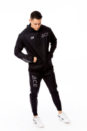 ULTRA LIGHT TRAINING SUIT - ACE BLACK GREY - ACEPERFORMANCE