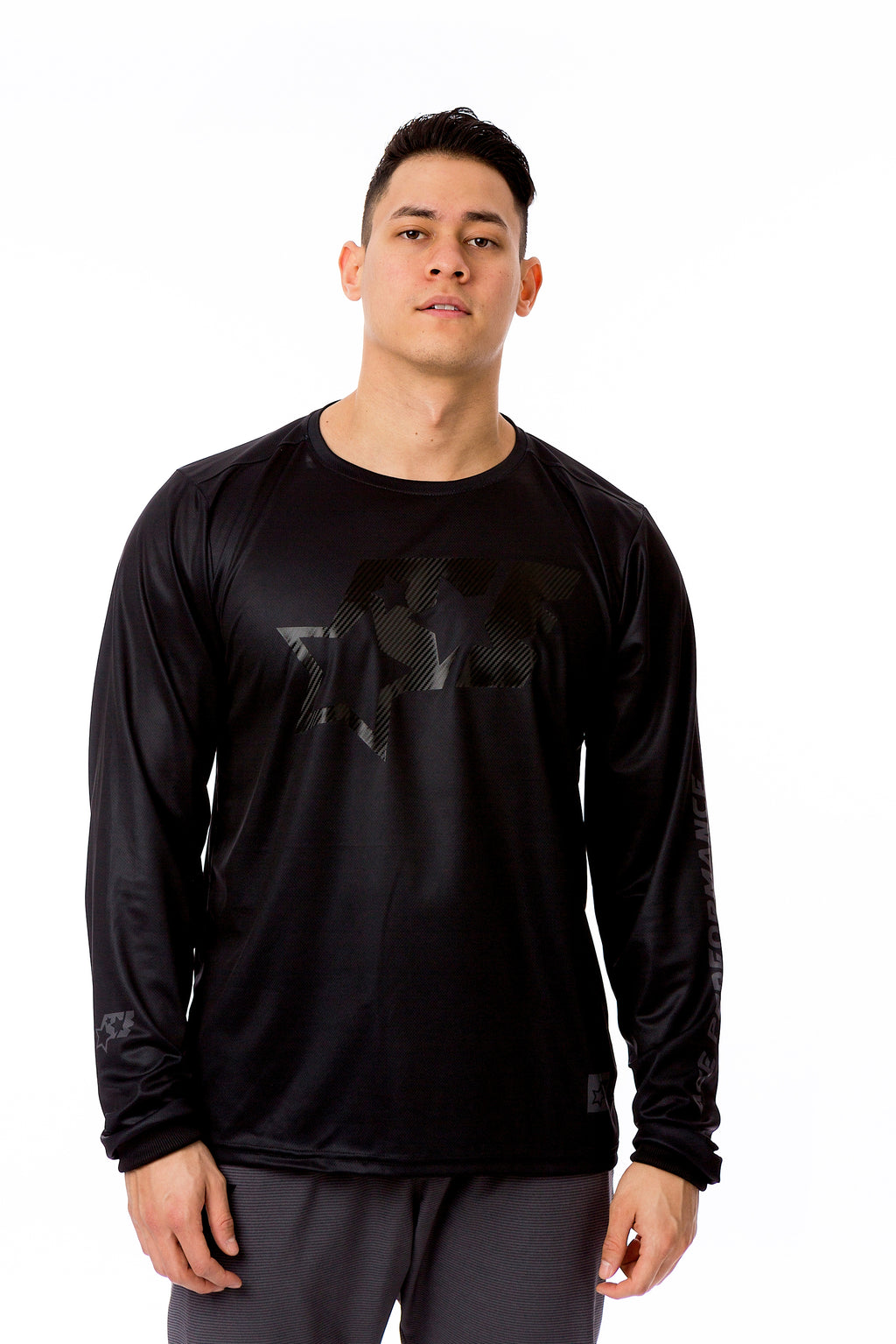 LONGSLEEVE SPORT SHIRT - BLACKONBLACK - ACEPERFORMANCE