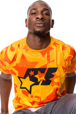 ProFit T-SHIRT - ACE CAMO ORANGE - ACEPERFORMANCE