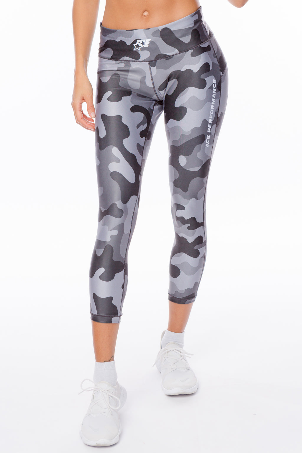 WOMENS LEGGINGS - BLACK CAMO - ACEPERFORMANCE
