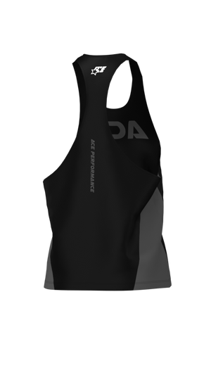 FITNESS LOOSE TANK TOP - ACE BLACK GREY - ACEPERFORMANCE