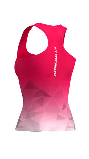 WOMENS FITNESS TANK TOP -  FLAMINGO - ACEPERFORMANCE