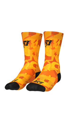 SOCKS - ACE CAMO ORANGE - ACEPERFORMANCE