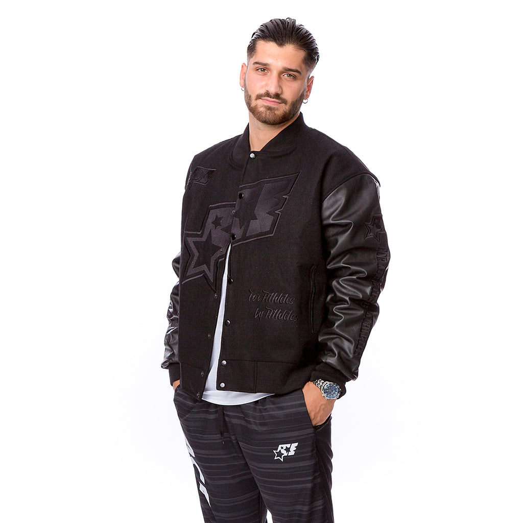 ACE Signature College Jacket - BlackOnBlack - ACEPERFORMANCE