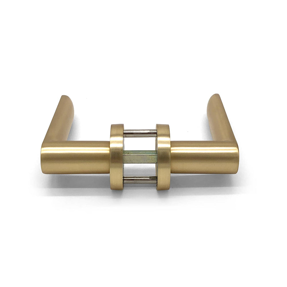 Satin Brass Passage Door Handle - Havana