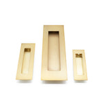 Satin Brass Sliding Door Flush Pull 250mm x 80mm