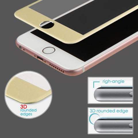 iphone 6 gold tempered glass