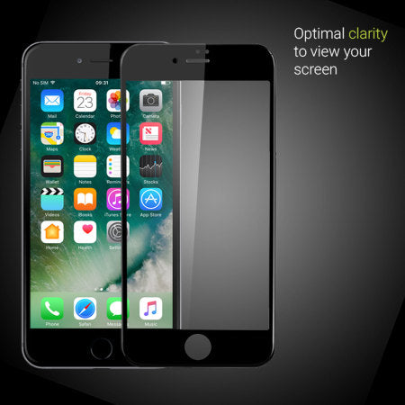iphone 7 black tempered glass