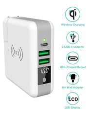 6700mAh 3 in 1 Multipurpose Super Wireless Charger Wall Adapter