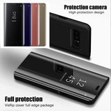 Electroplated Mirror Flip Case for Samsung Galaxy Note 9/S9+/Note 8