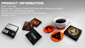 Tacticool Classic Red Emote Beverage Coasters
