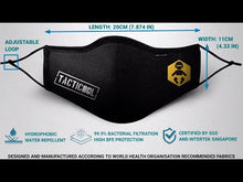 Load and play video in Gallery viewer, Tacticool X The Waye Reusable 3 Ply Mask