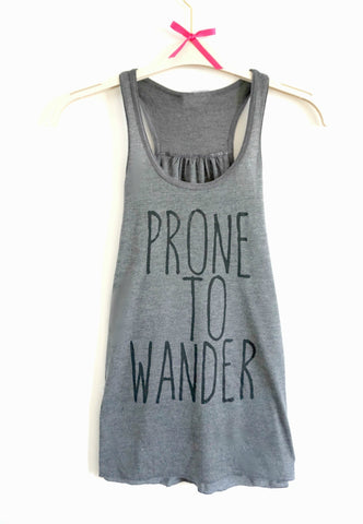 Prone to Wander - Dark Heather Grey
