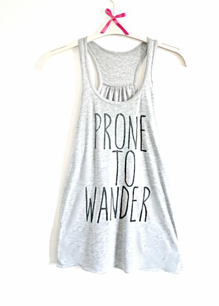 Prone to Wander - Light Heather Grey