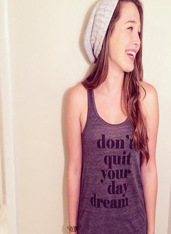 Don't Quit Your Day Dream - Dark Heather Grey