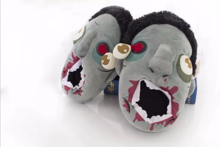 Women Men Zombie Plush Slippers all in one size