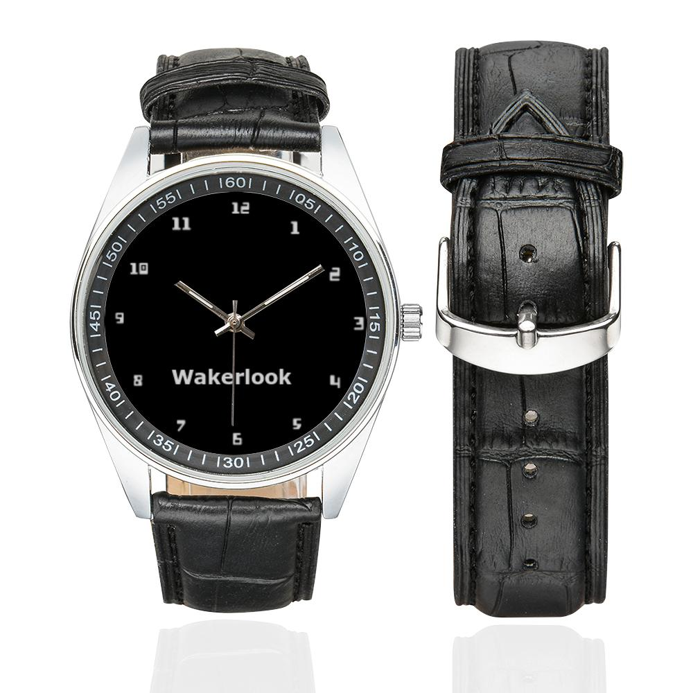 Men's Casual Wakerlook Leather Strap Watch