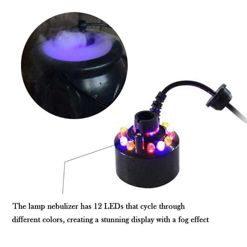 Halloween Terror Cauldron Fog Maker Magic Smoke Mist Candy Machine Pot Colorful Changing Party Props Witch Funny Novelty Kid Toy