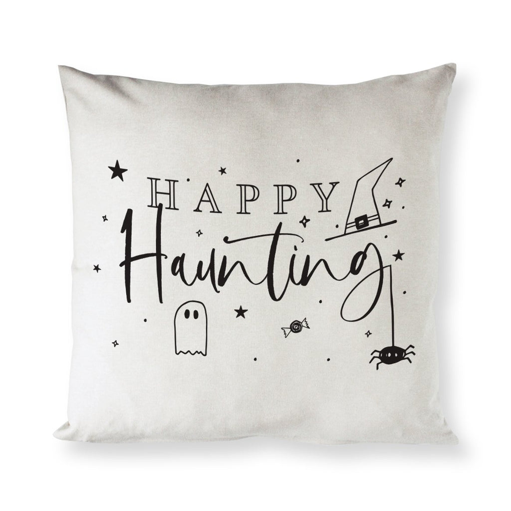 Happy Haunting Cotton Pillow Cover