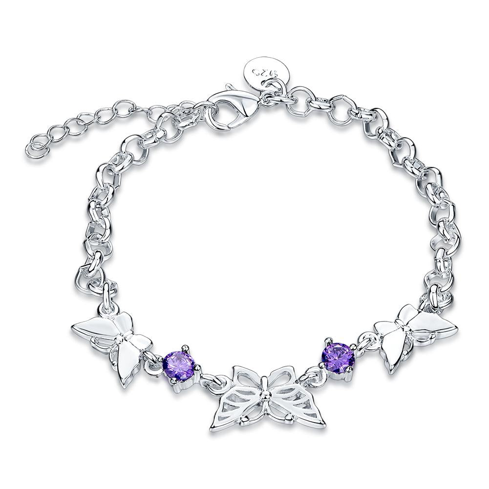 Miramas 18K White Gold Plated Bracelet Made with Swarovski Crystals