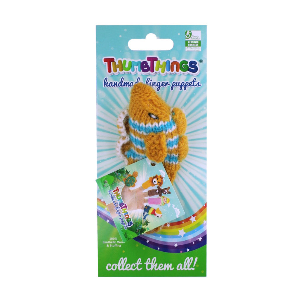 Tropical Fish Finger Puppet (gold and blue)