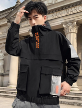 Load image into Gallery viewer, Windbreaker Jacket (Transparent pocket)