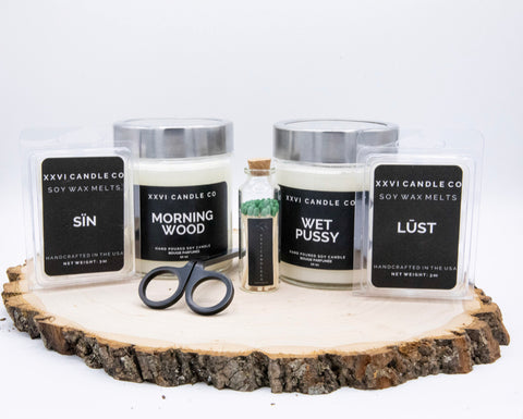 best white handmade scented candle gift set