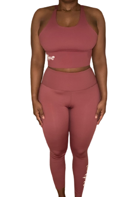 The Gym Bae Athletic Set Mauve