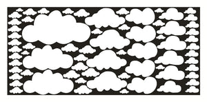 Cartoon Clouds | 68 stuks Wolkenstickers