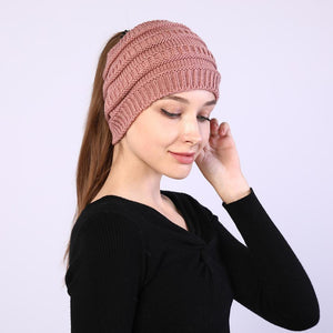 TOM BLUE™ - Fall & Winter Ponytail Beanie