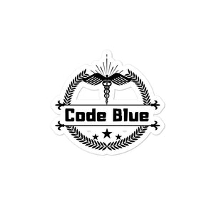 Code Blue stickers