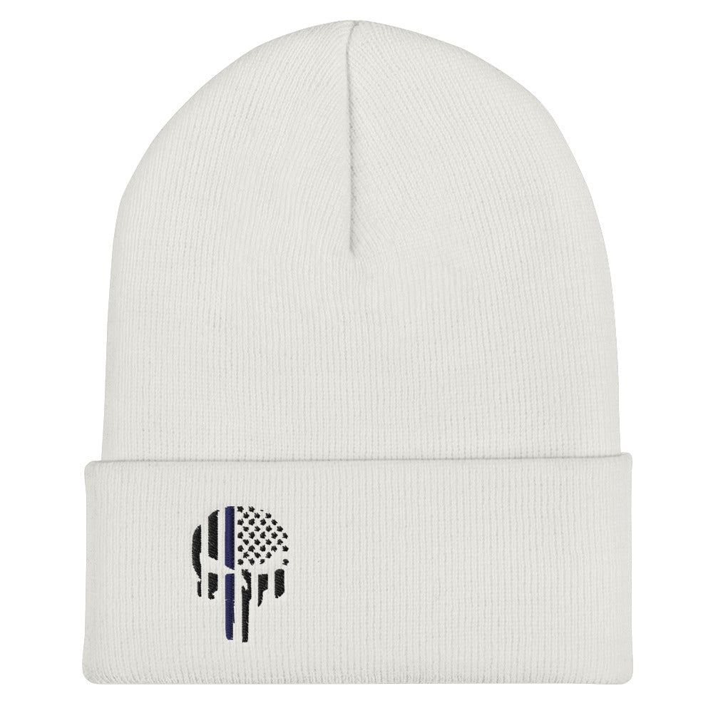 Thin Blue Punisher Cuffed Beanie