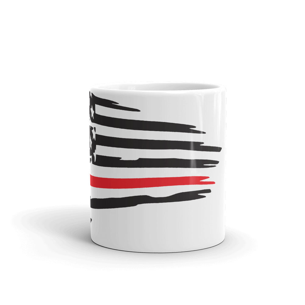 Thin Red Line Flag Mug