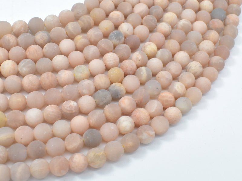 Matte Sunstone Beads, Round, 6mm-BeadBeyond