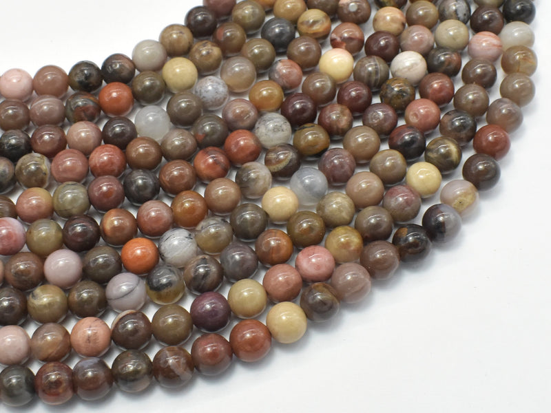 Petrified Wood, 6mm (6.3mm) Round Beads-BeadBeyond
