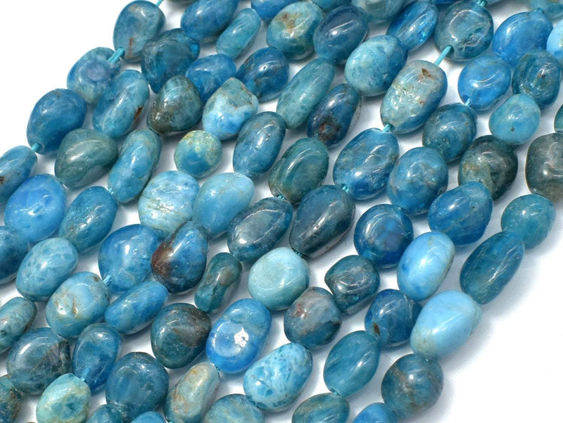 Apatite, 6x8mm Nugget Beads, 16 Inch-BeadBeyond