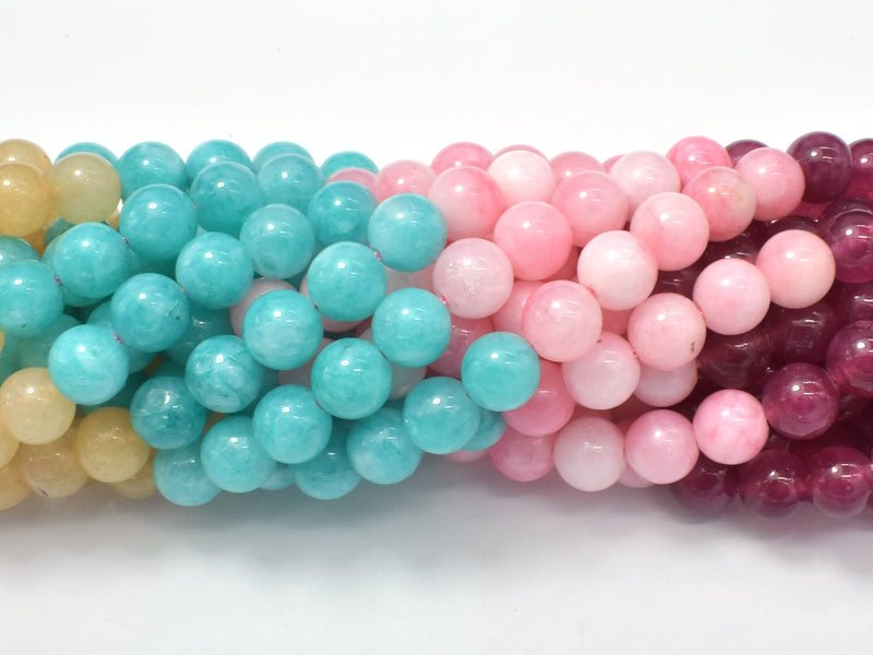 Jade Beads-5 color, 8mm (8.3mm) Round Beads