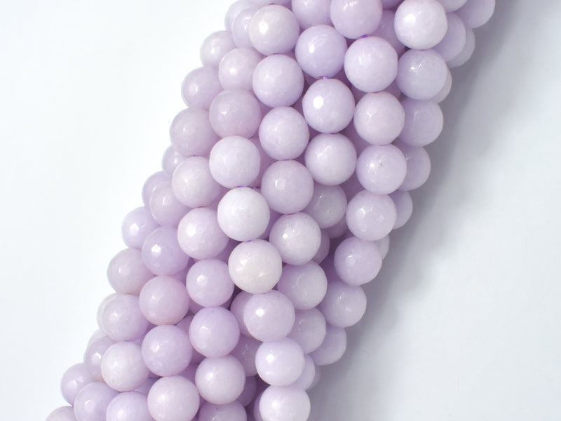 Jade Beads, Lavender, 8mm Faceted Round