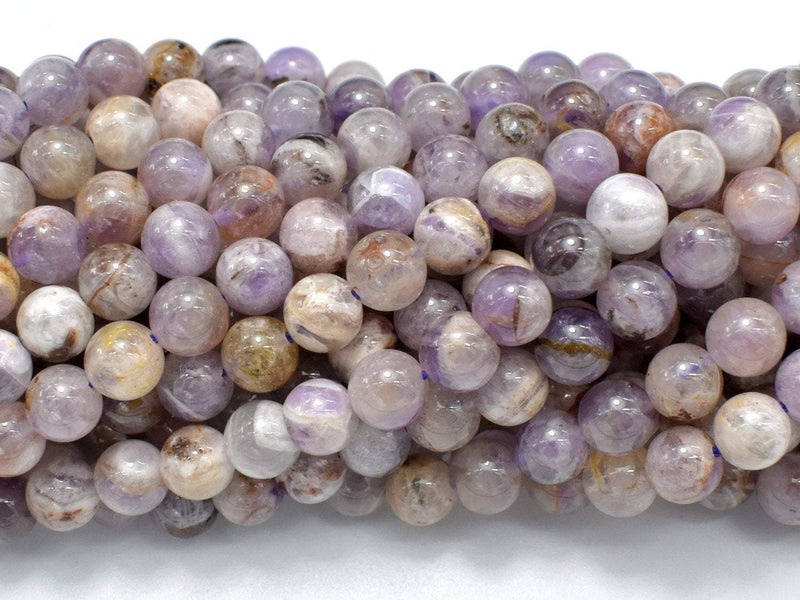 Amethyst, Dog Tooth Amethyst, 6mm(6.4mm) Round-BeadBeyond
