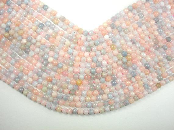 Beryl Beads, Aquamarine, Morganite, Heliodor, 5mm, round-BeadBeyond