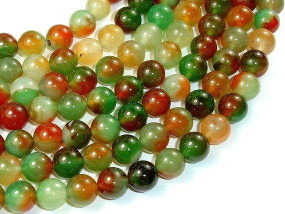 Agate Beads, 10mm (10.5 mm) Round Beads-BeadBeyond