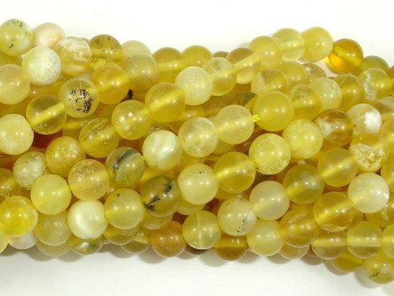 Yellow Opal, 6mm (6.8mm) Round Beads-BeadBeyond