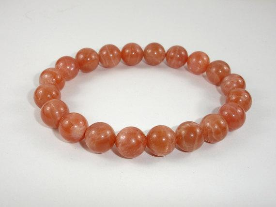 Sunstone Beads, Sunstone Bracelet, 8.5mm Round Beads-BeadBeyond